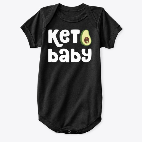 Keto Baby Magic Black T-Shirt Front