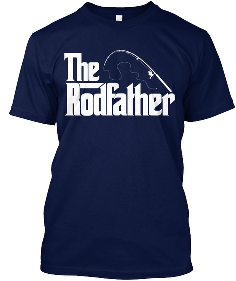 The Rodfather Navy T-Shirt Front