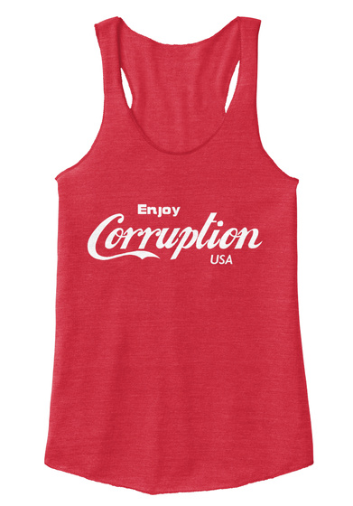 Enjoy Corruption Usa Eco True Red  T-Shirt Front