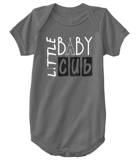 Little Baby Cub Charcoal T-Shirt Front