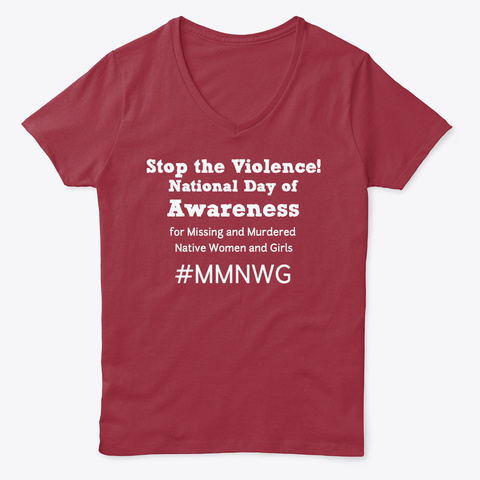 Stop The Violence! Deep Red  T-Shirt Front