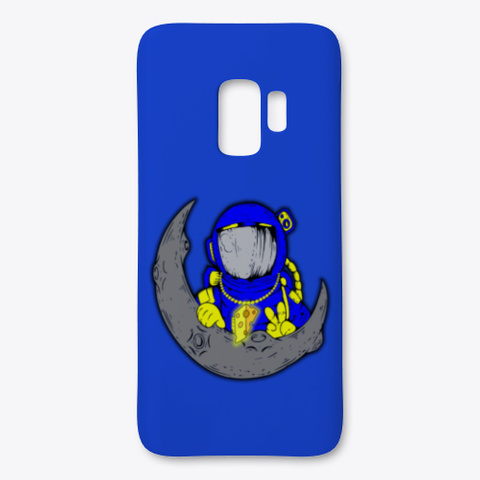 Space Cheddar The Phone Case Royal Blue T-Shirt Front