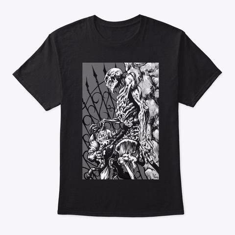 Zombie Illustration By Frank Forte Black Camiseta Front
