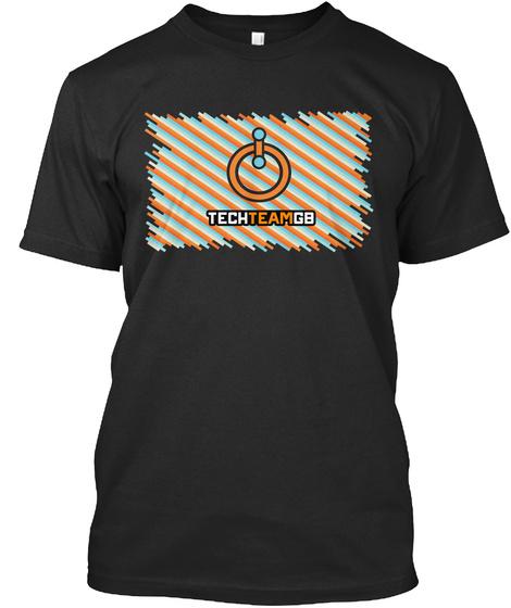 Techteamgb Black T-Shirt Front