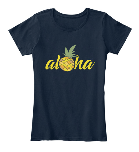 Alona New Navy T-Shirt Front