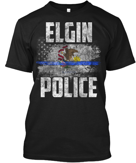 Elgin Police Black T-Shirt Front