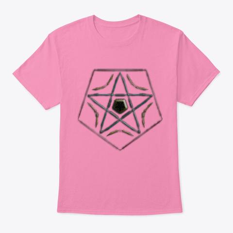 Artistic Geometric Design  Pink T-Shirt Front