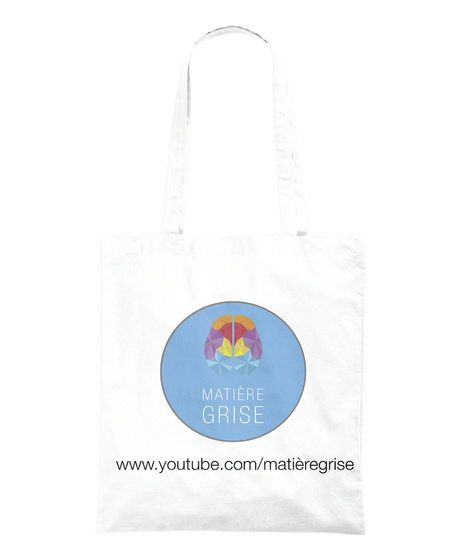 "Tote Bag ""Erlenmeyer""   Matière Grise White Tote Bag Back"