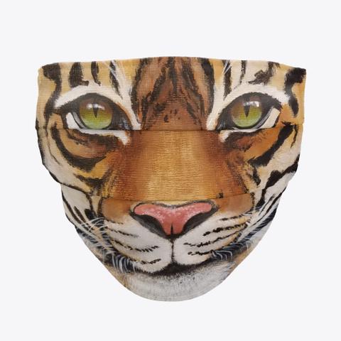Tiger Face Mask Standard T-Shirt Front