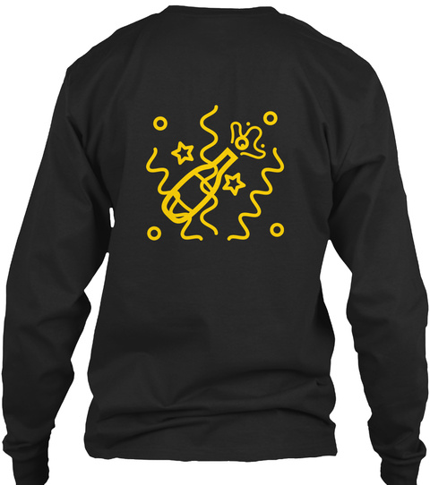 New Year's Day  Black Long Sleeve T-Shirt Back