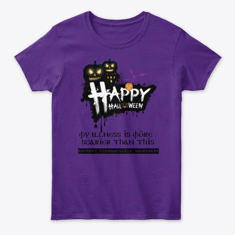 Happy Halloween Purple Women's T-Shirt Front