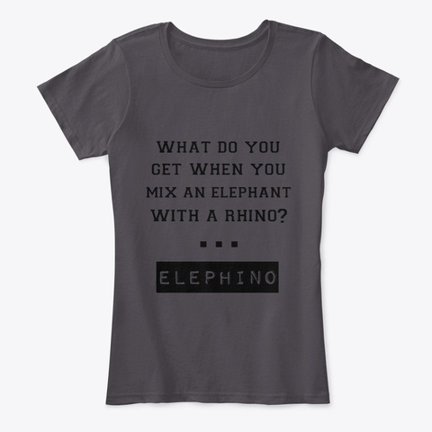 Elephino Tee Heathered Charcoal  T-Shirt Front