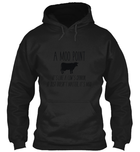 Friends Moo Point Black T-Shirt Front