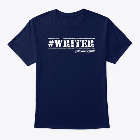 #Writer  ...  Rowdy: Wmsk Navy T-Shirt Front