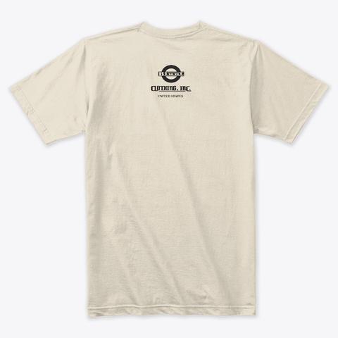Blunt Solid Black Logo Tee Usa Cream T-Shirt Back