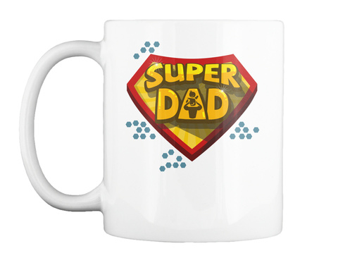 Mugs For Super Dad White Mug Front