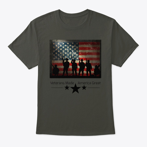 Vmag Flagged Soldiers Smoke Gray T-Shirt Front