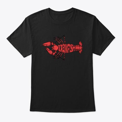 Crawfish Vintage Cool Cajun Festival Mar Black T-Shirt Front