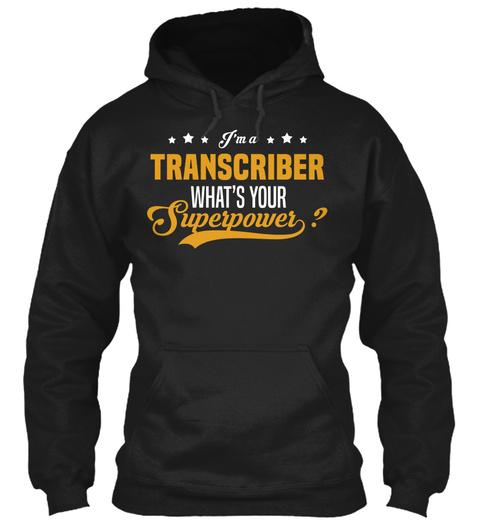 Transcriber Black T-Shirt Front
