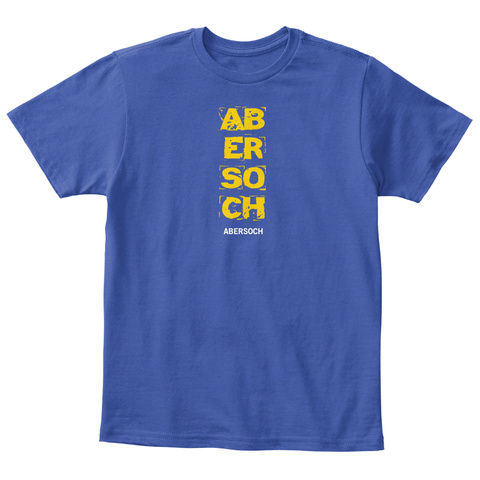 Ab Er So Ch Abersoch Royal Blue T-Shirt Front