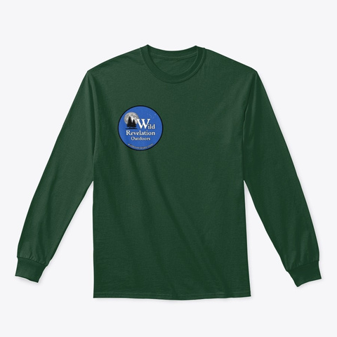 Explore Dream Discover Long Sleeve Tee Forest Green T-Shirt Front