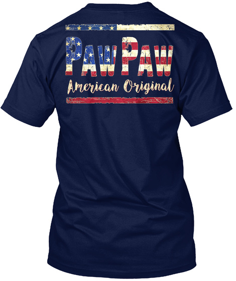 Pawpaw American Original Navy T-Shirt Back