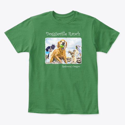 Doggieville Kids Tee Kelly Green  T-Shirt Front