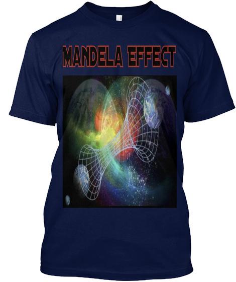 Mandela Effect Navy T-Shirt Front