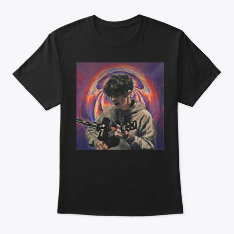 (Usa) Noahfinnce: Asthma Attack  Black T-Shirt Front