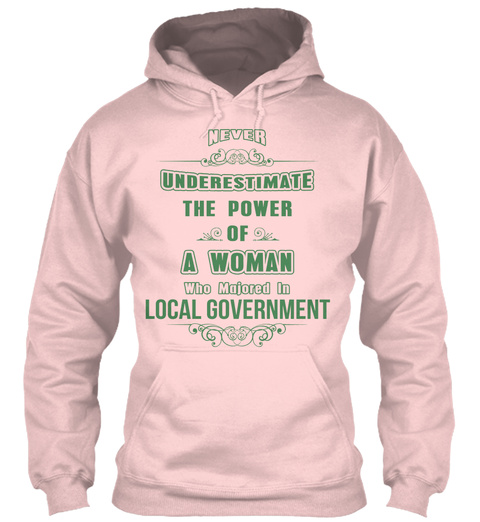 Local Government Light Pink T-Shirt Front