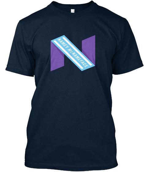 Namey Mcnameface  New Navy T-Shirt Front