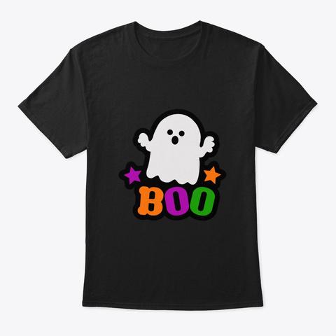 Boo Halloween Costume Black T-Shirt Front