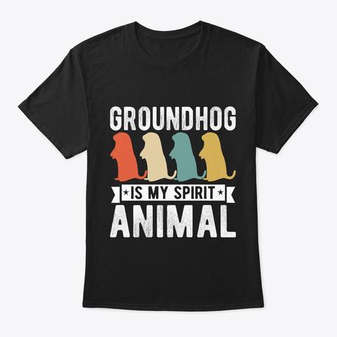 Groundhog Day Woodchuck Biology Zoology  Black T-Shirt Front
