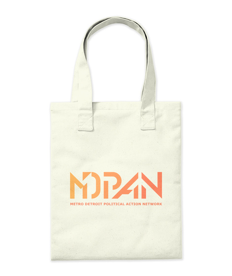 Mdpan Metro Detroit Political Action Network Natural Tote Bag Back