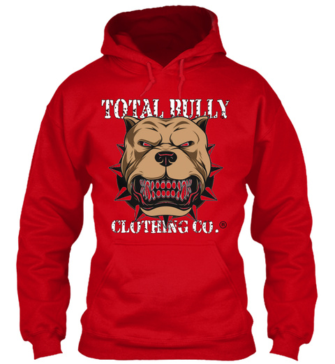 Total  Bully Clothing Co. Red T-Shirt Front