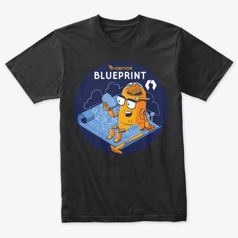 Ignition Blueprint Vintage Black T-Shirt Front