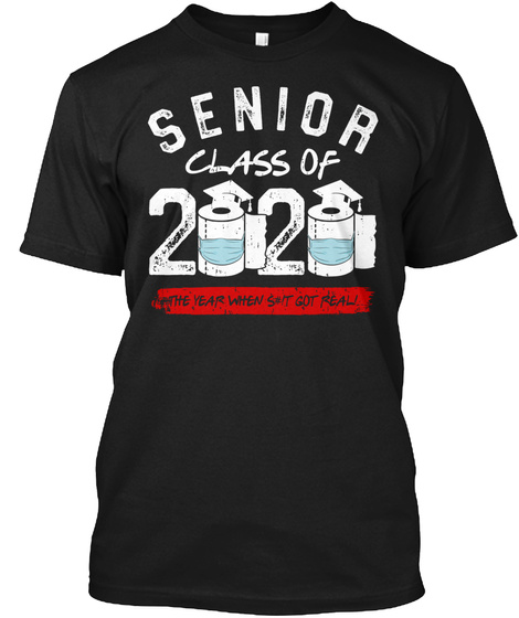 Senior Class Of 2020 Black T-Shirt Front