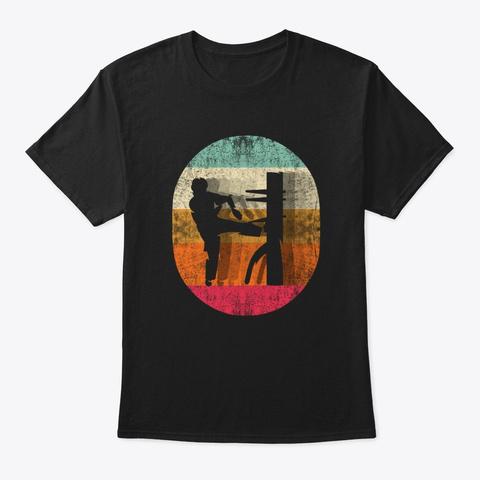 Vintage Wing Chun T Shirt Martial Arts Black T-Shirt Front