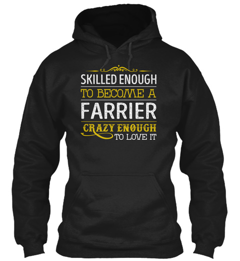Farrier   Skilled Enough Black T-Shirt Front