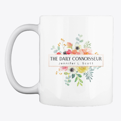 The Daily Connoisseur Mug White T-Shirt Front
