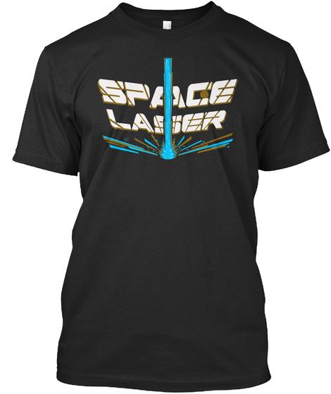 Space Laser Black T-Shirt Front