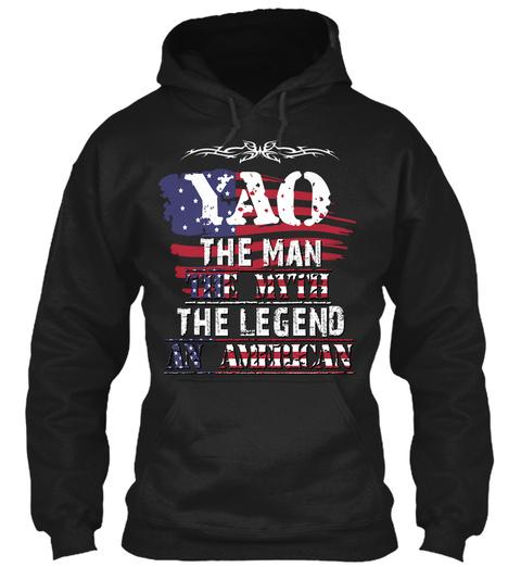 Yao  Black T-Shirt Front