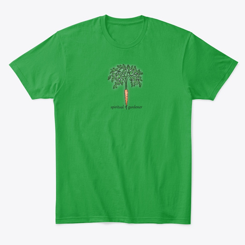 Spiritual Gardener Carrot Series Kelly Green T-Shirt Front