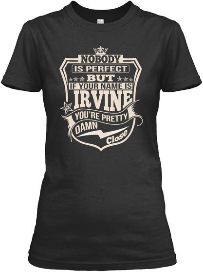 Nobody Perfect Irvine Thing Shirts Black T-Shirt Front
