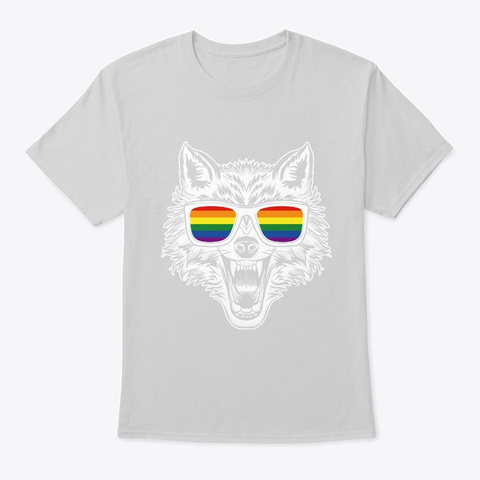 Lgbtq Wolf In Glass Vintage Light Steel T-Shirt Front