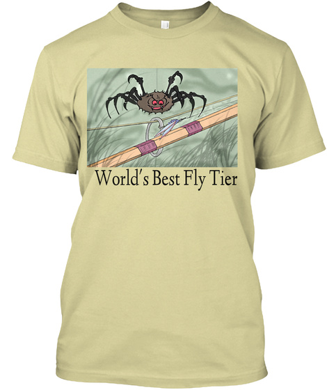World's Best Fly Tier Sand T-Shirt Front