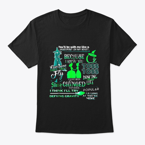 Wicked Musical Shirt Black T-Shirt Front