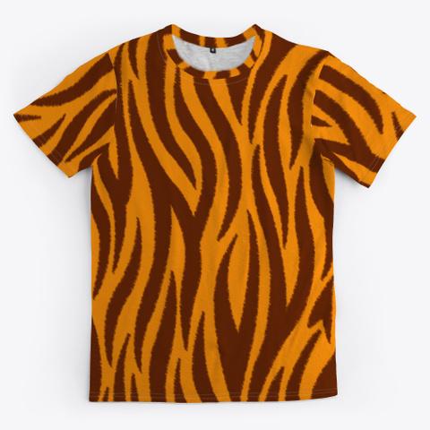 Halloween Costume Tiger Pattern Standard T-Shirt Front