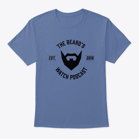 Basic Beard's Watch Denim Blue T-Shirt Front
