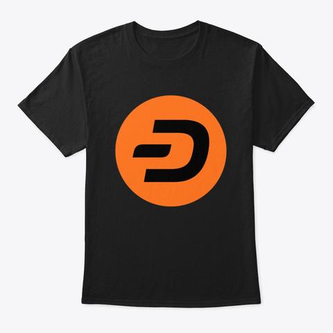 Dash (Orange) Black T-Shirt Front